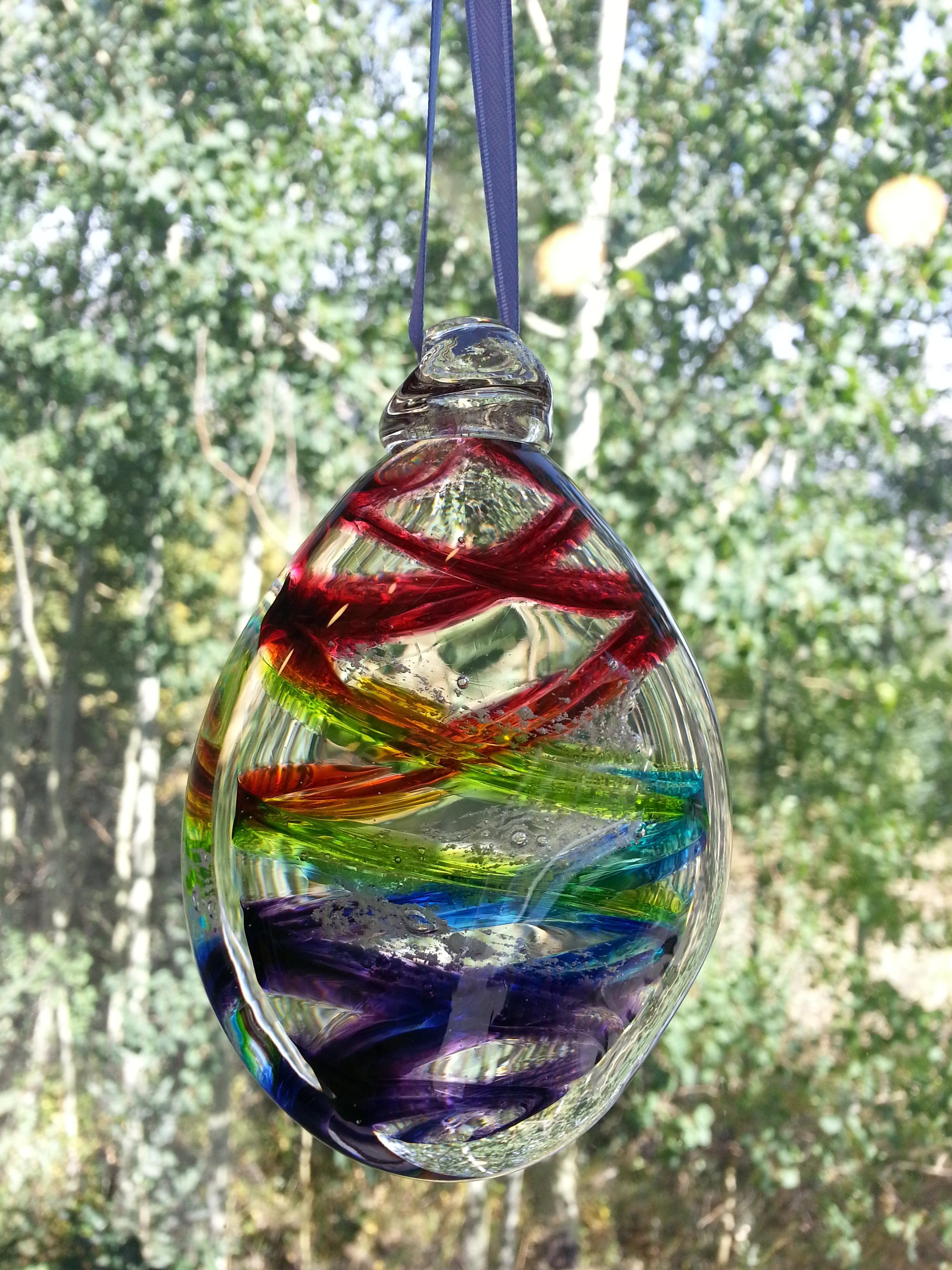 Chrysalis Ornament - Rainbow, by Nicole Tremblay