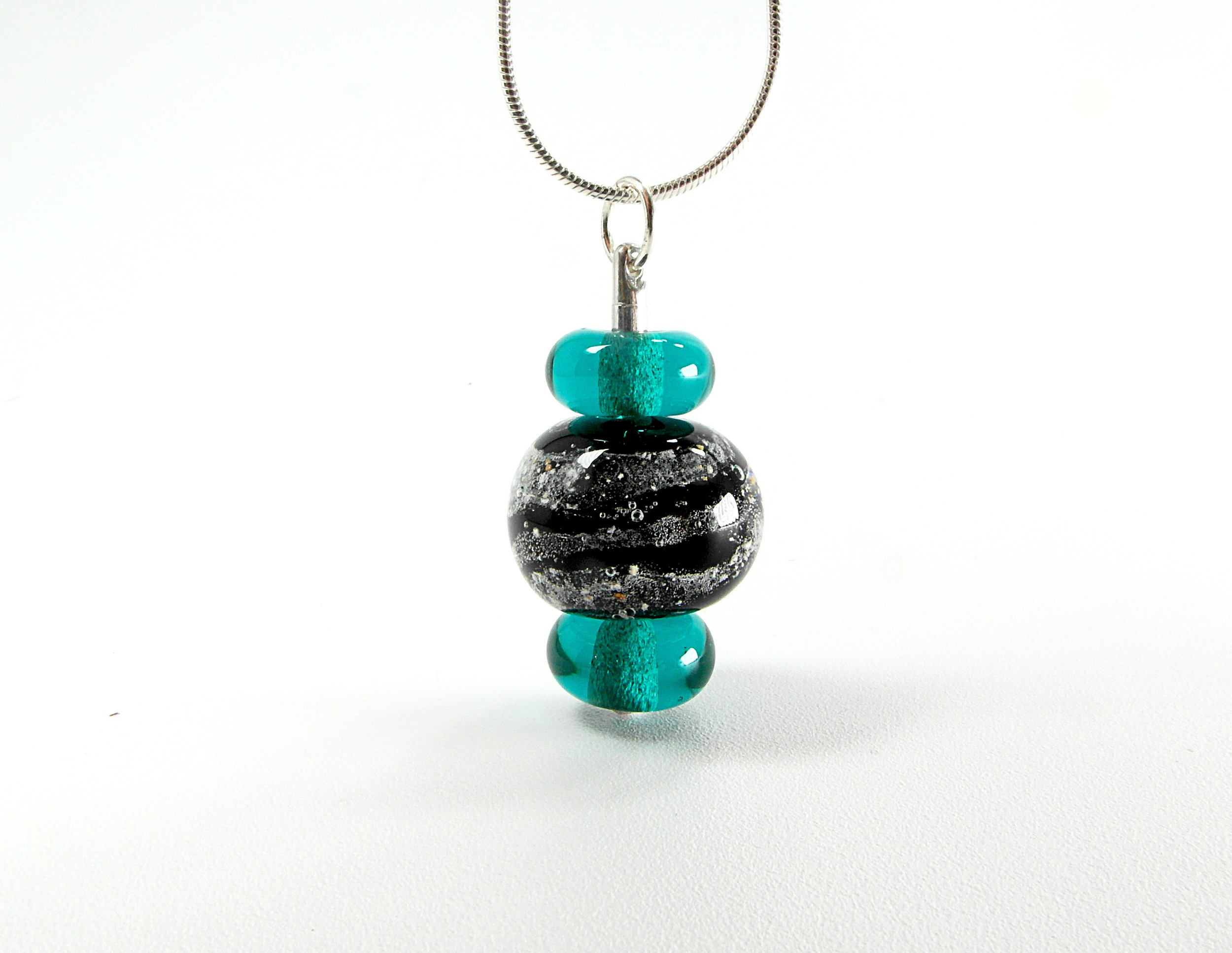 Stacked Tributary Ashes Pendant By Deanna McGillivray