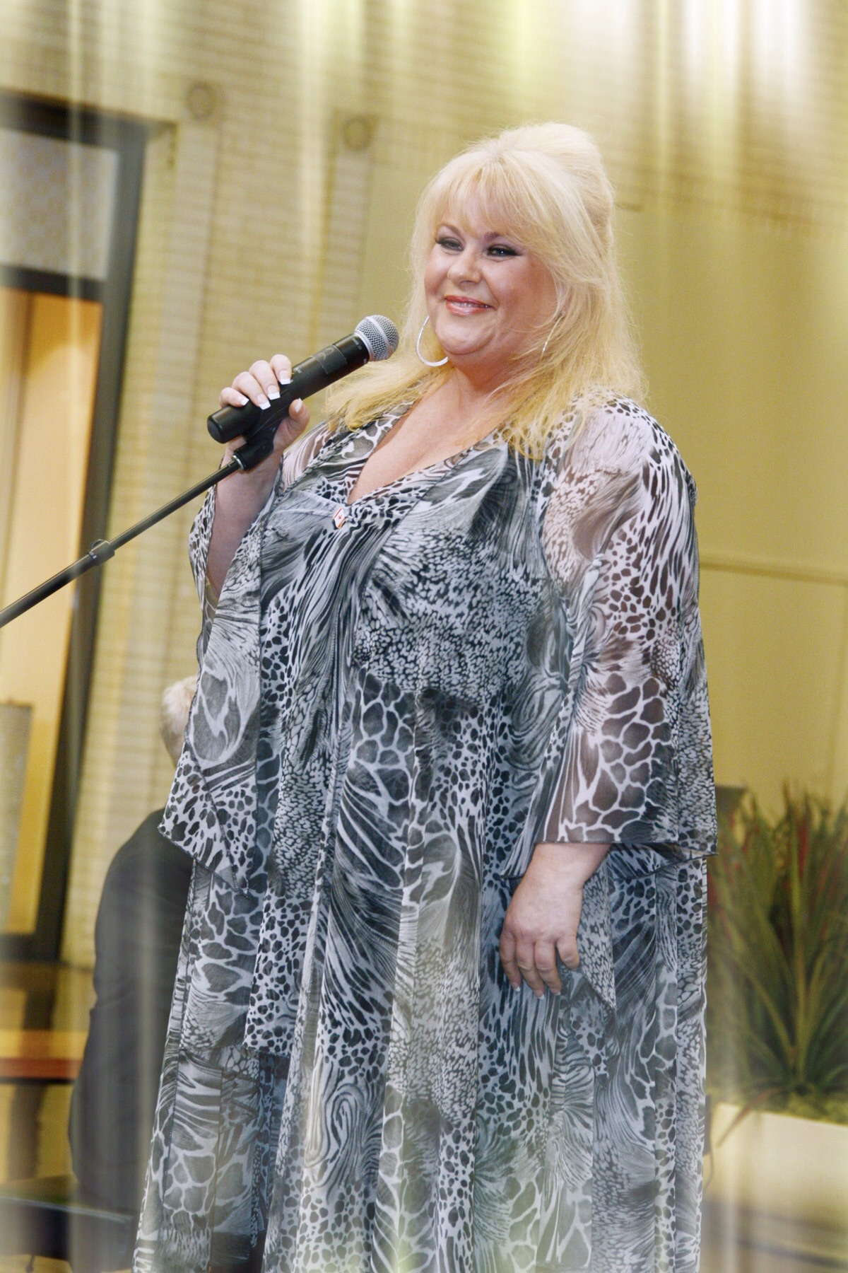 Throwback photo of France Joli for Canada Day at NorthPark Center