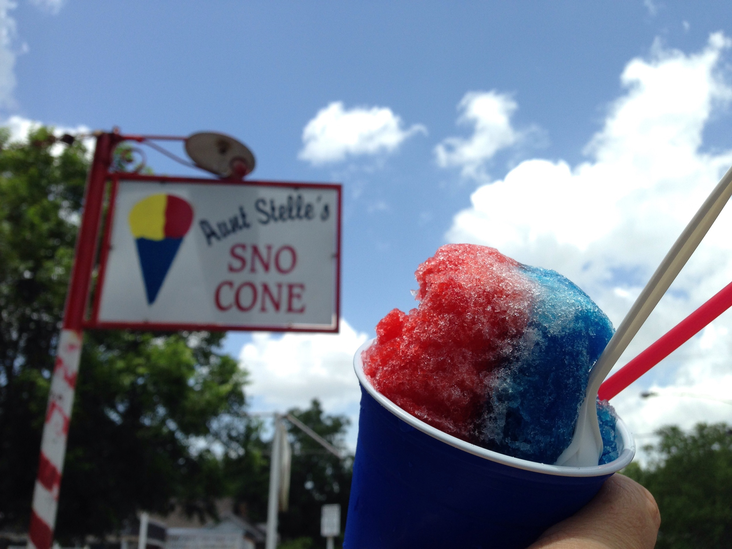 A 4th of July Aunt Stelle's Sno Cone
