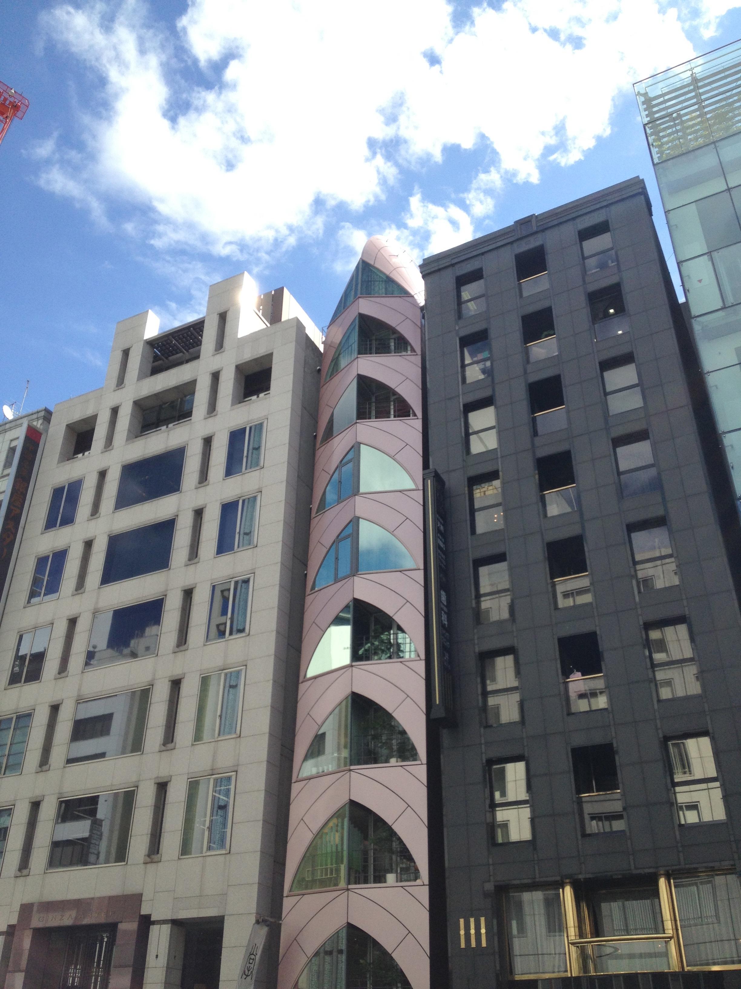 Futuristic buildings in Ginza area
