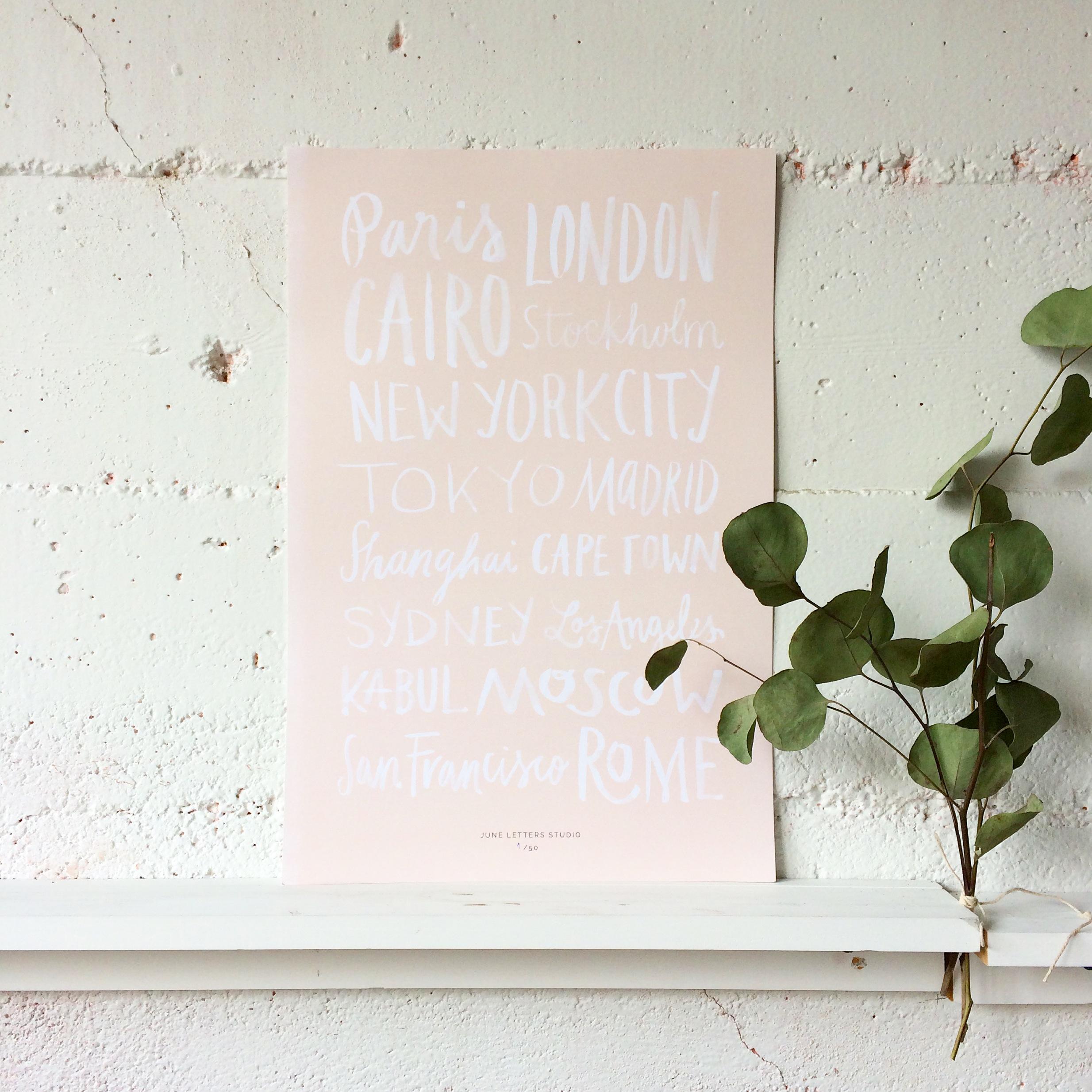 City Name Poster