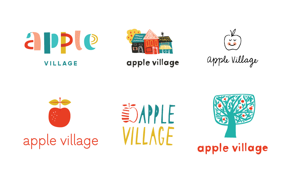 AppleVillage-logosketches.jpg
