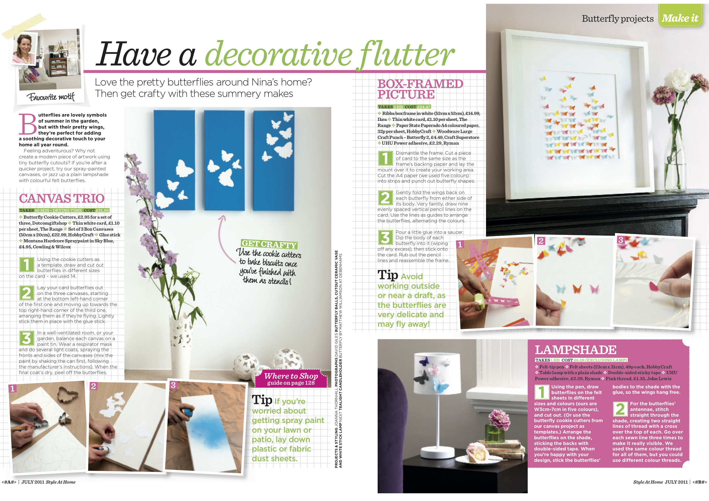 1. Style at Home magazine Butterfly Craft Projects by Interior Stylist Joanna Thornhill.jpg
