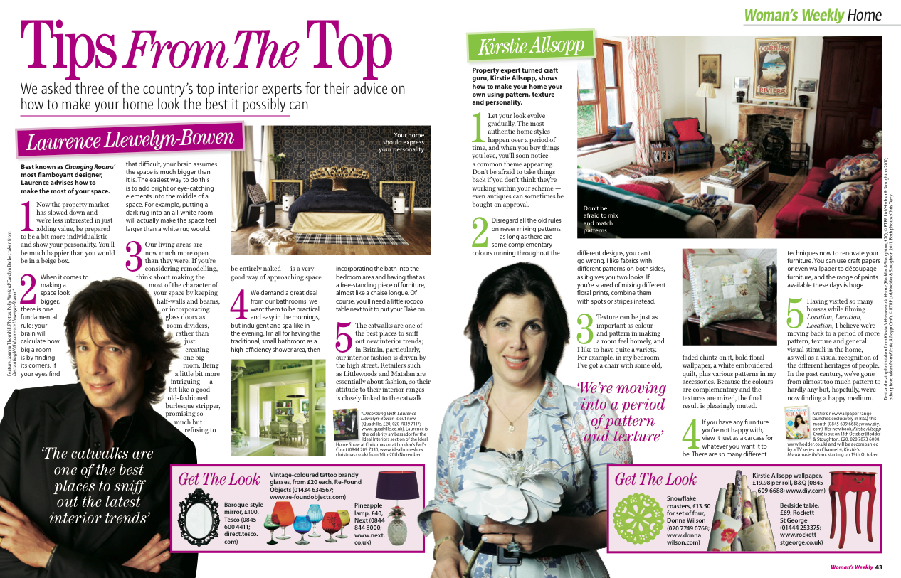 10. Woman's Weekly magazine Tips from the Top feature by Interior Stylist Joanna Thornhill P1-2.jpeg