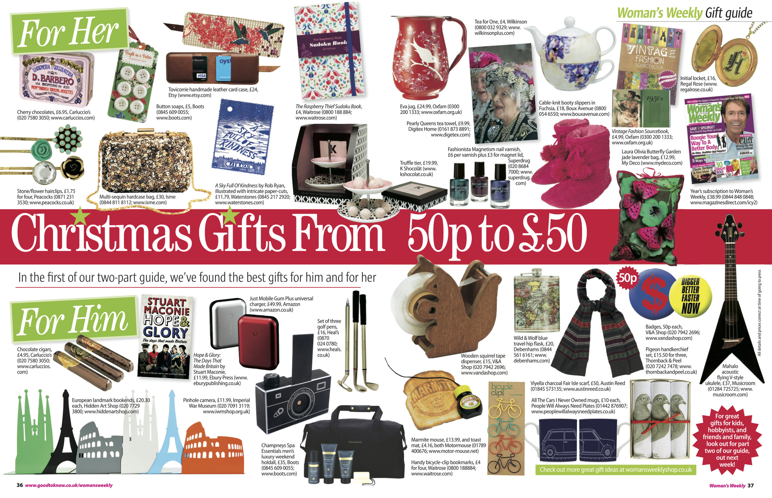 8. Woman's Weekly magazine Christmas Gift Guide feature Pt 1 Him & Her by Interior Stylist Joanna Thornhill.jpeg