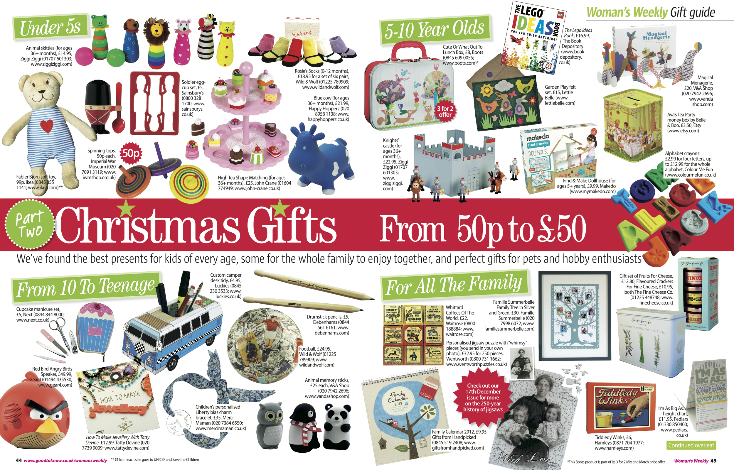 9. Woman's Weekly magazine Christmas Gift Guide feature Pt 2 Kids & Family by Interior Stylist Joanna Thornhill.jpeg