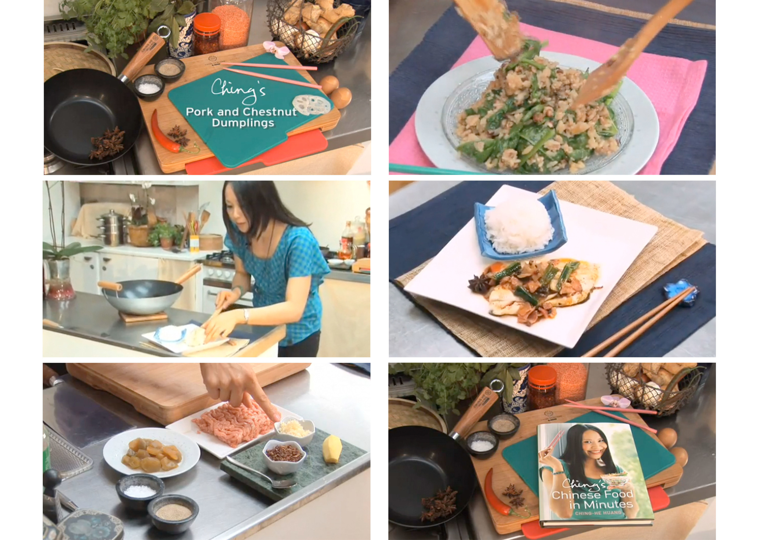 Ching's Chinese Food in Minutes  Stills from a series of viral videos to promote chef Ching He Huang's latest book title