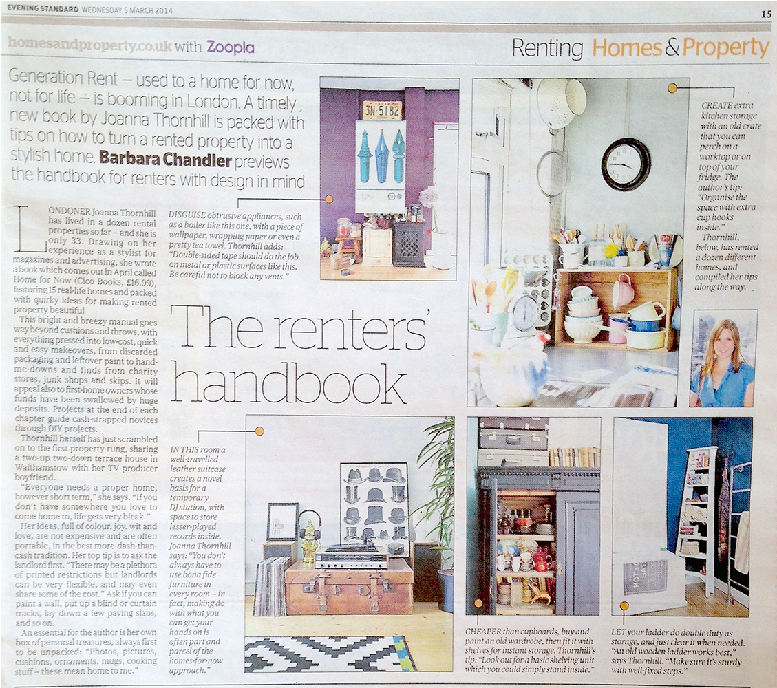 Homes & Property/London Evening Standard, 5th March 2014
