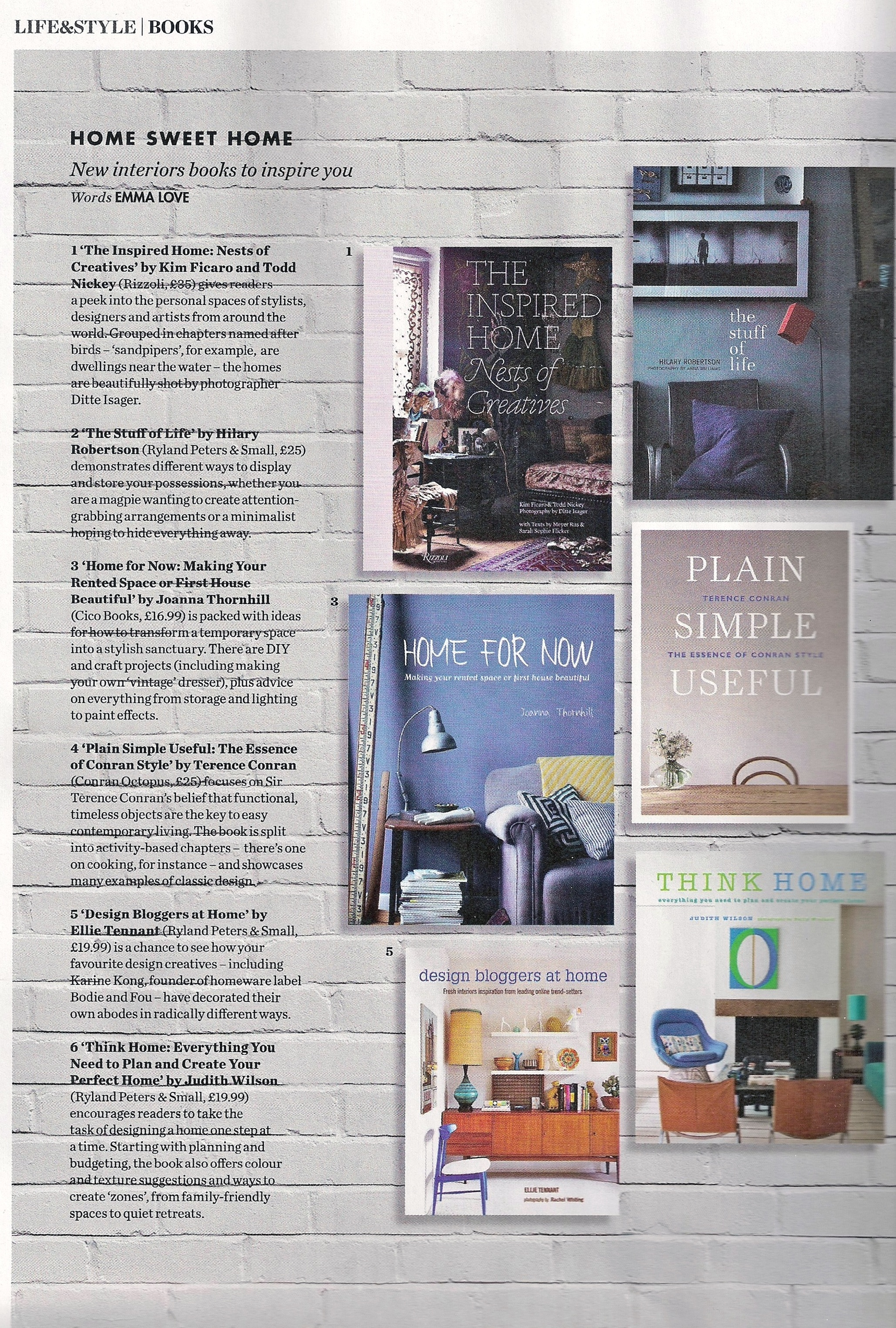 Elle Decoration Book Review page May 2014 with Home for Now by Joanna Thornhill.jpg