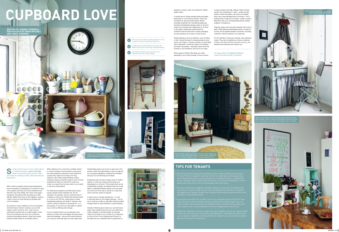 MoveTo London Cupboard Love article by Joanna Thornhill