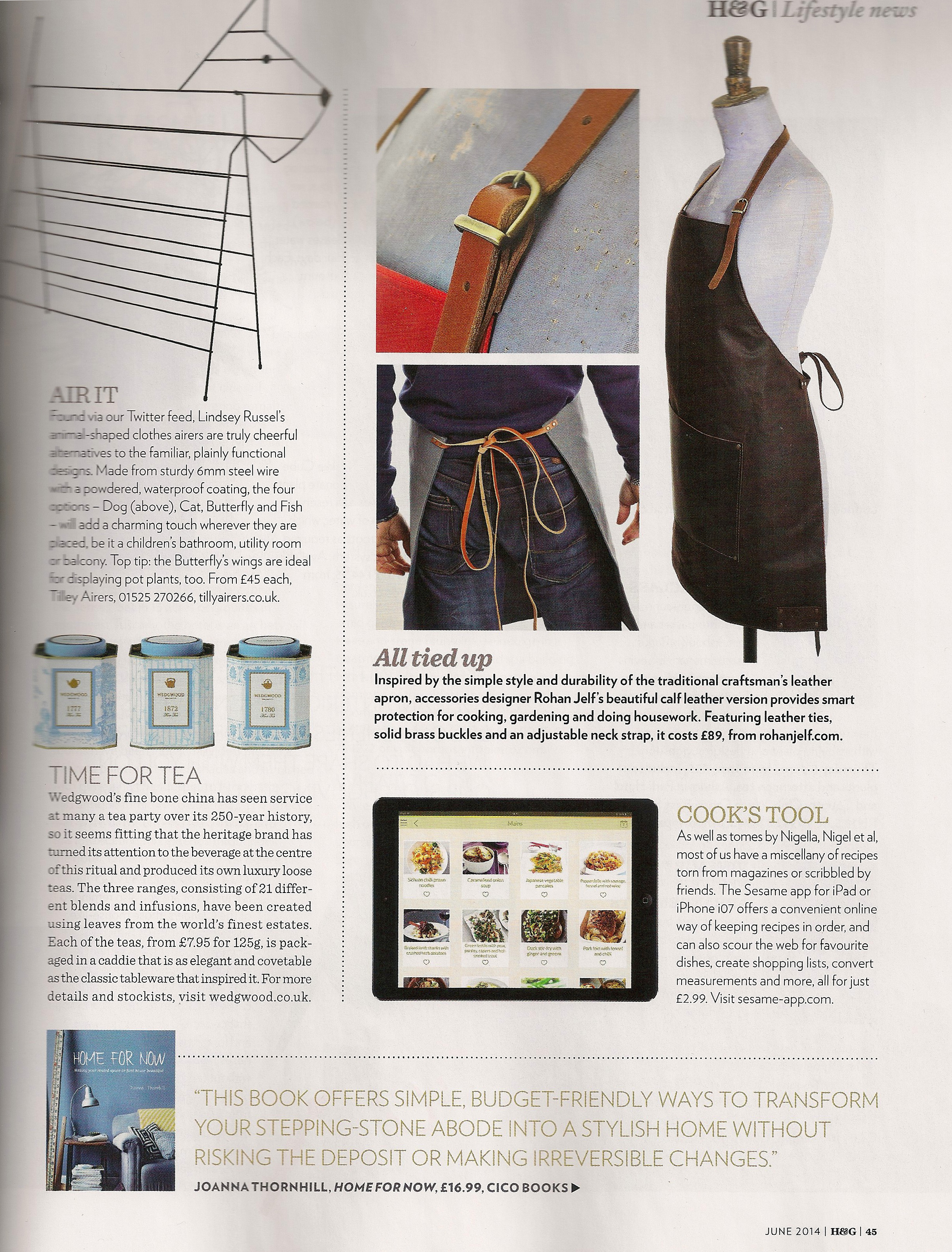 Page in June14 Homes & Gardens with Home for Now by Joanna Thornhill