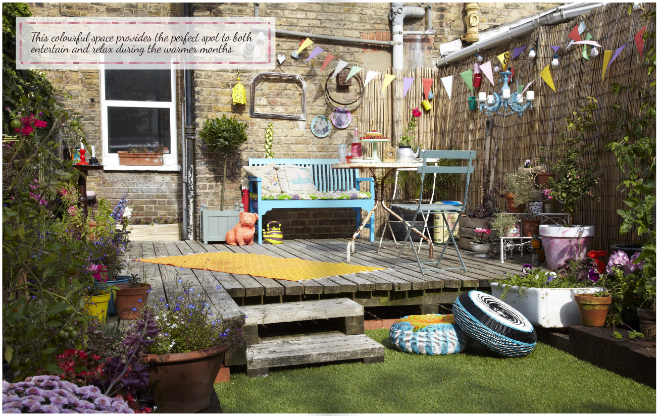 Garden Fakeover feature by Joanna Thornhill p26-27, Heart Home July14