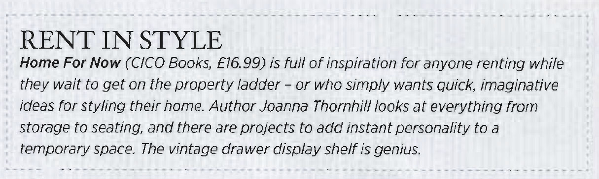 Sainsbury's Magazine March 2014 Review Crop Home for Now by Joanna Thornhill