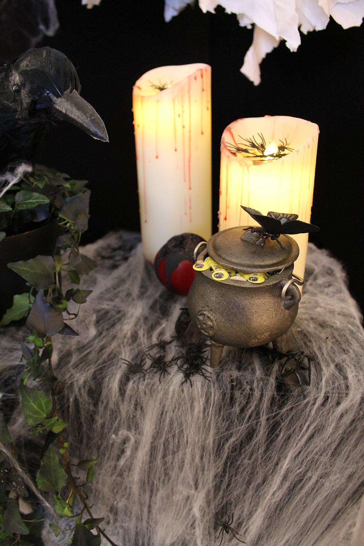 Superdrug Halloween 2016 Crow Cauldron Candles Vignette Joanna Thornhill