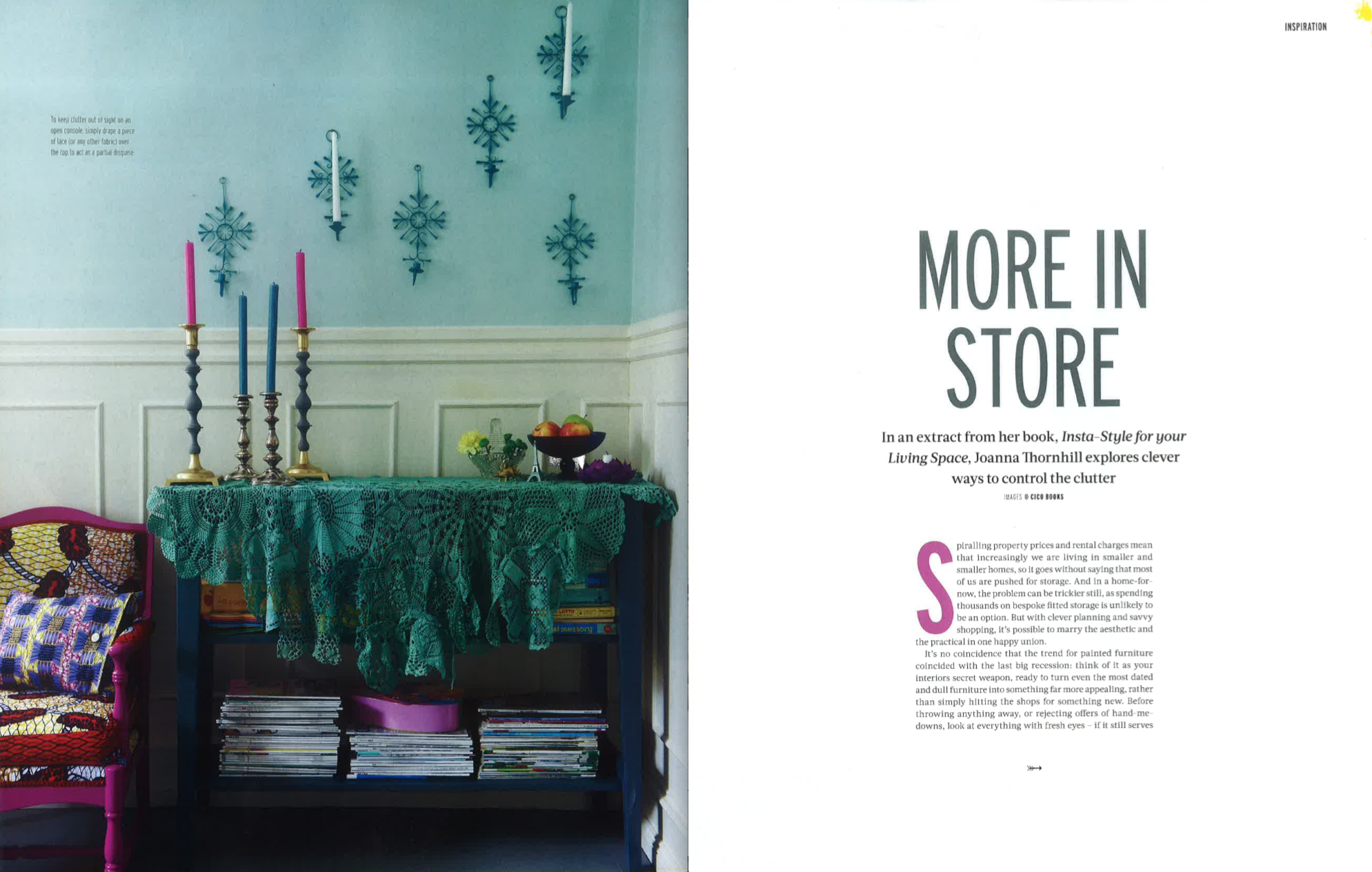 Reclaim magazine featuring Insta Style for Your Living Space by Joanna Thornhill Nov 2018 P1-2.png