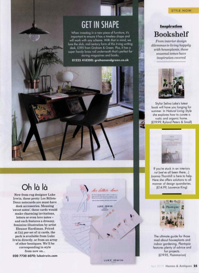 Homes & Antiques Magazine April19 issue featuring My Bedroom is an Office by Joanna Thornhill w highlight.png