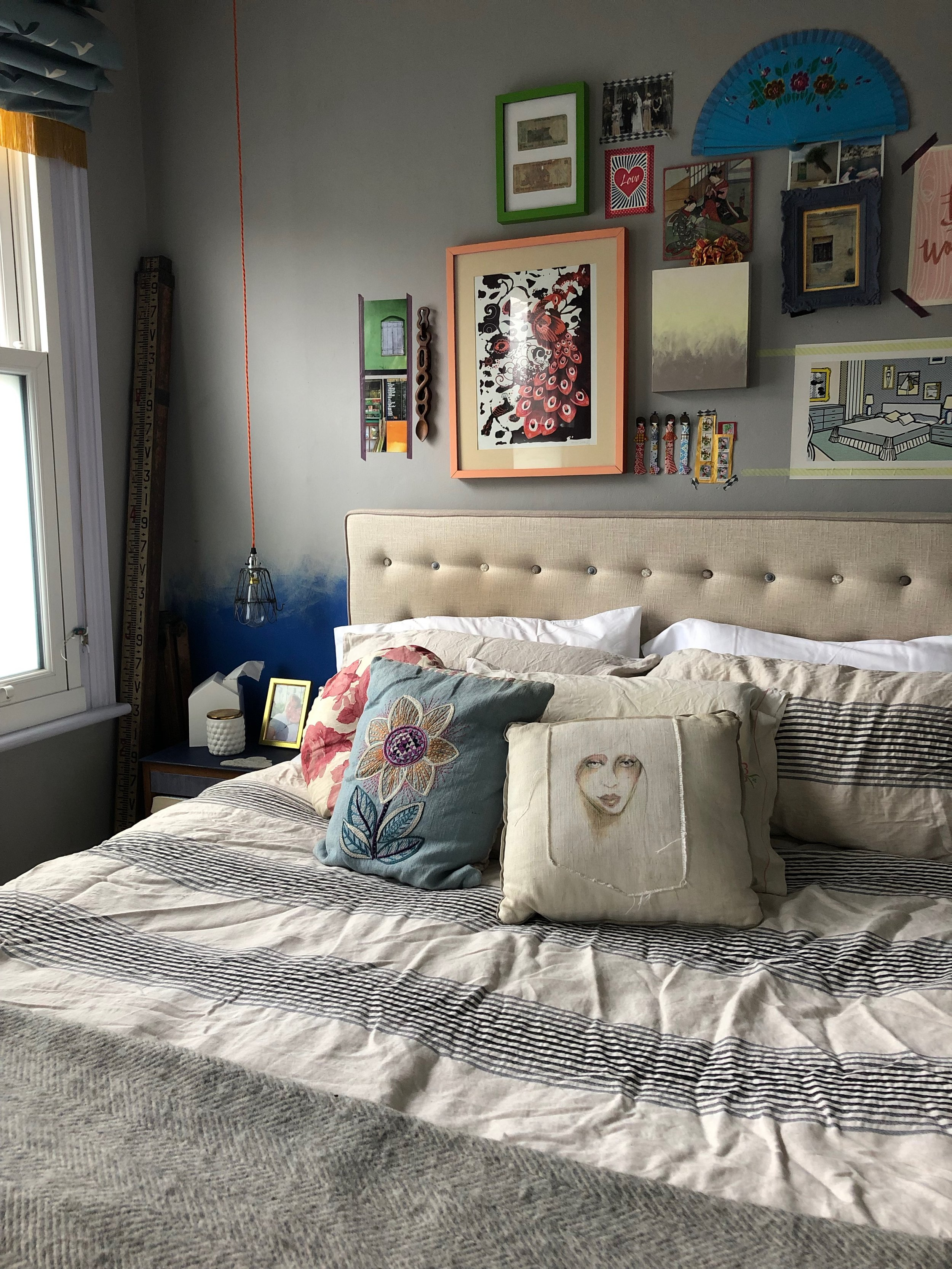 My own bedroom, which occasionally serves as my office when I'm feeling lazy (photo ©  Joanna Thornhill )