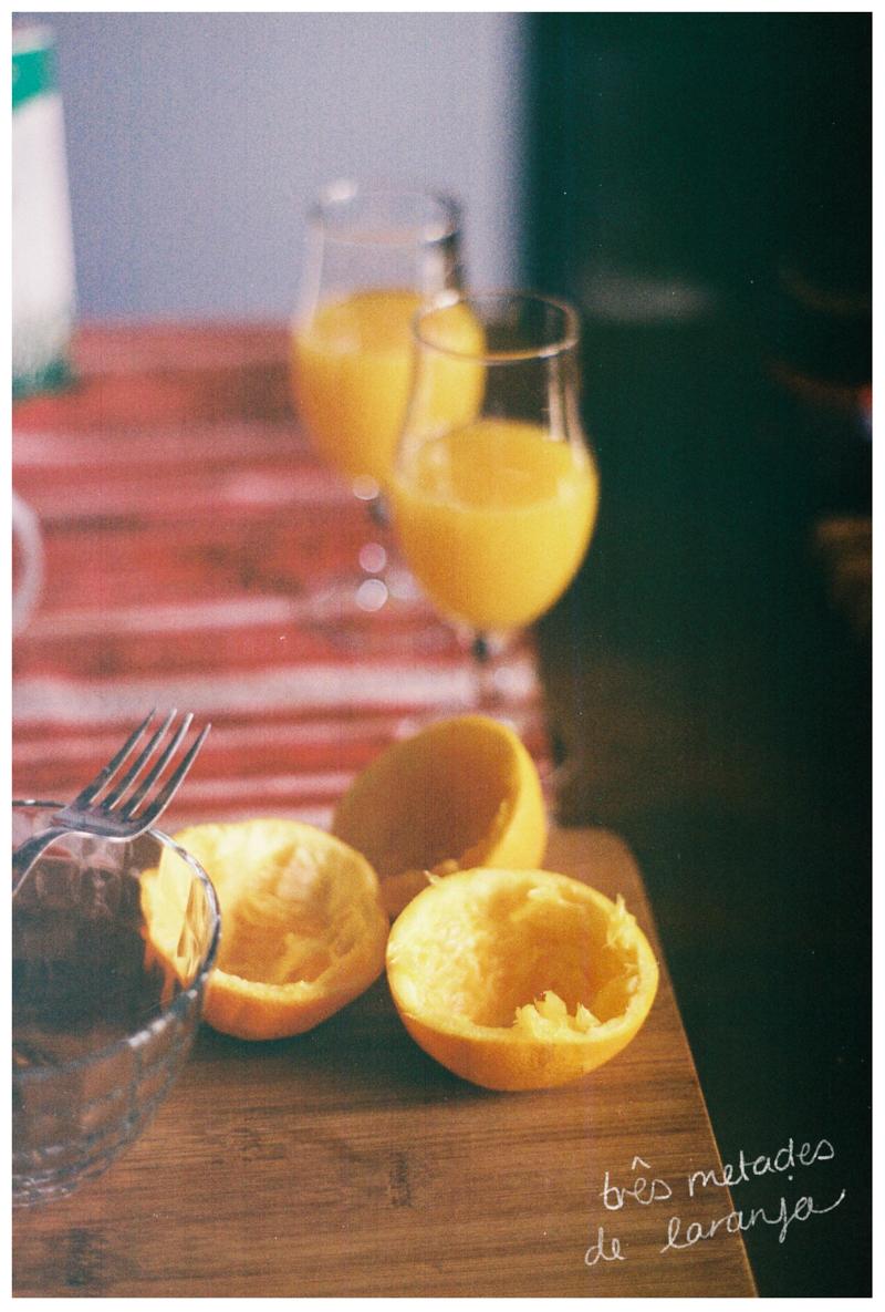 three halves of two oranges