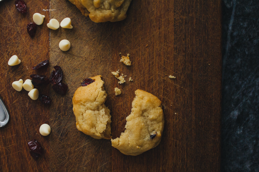 White Chocolate + Cranberry Cookies :: The Arrow House