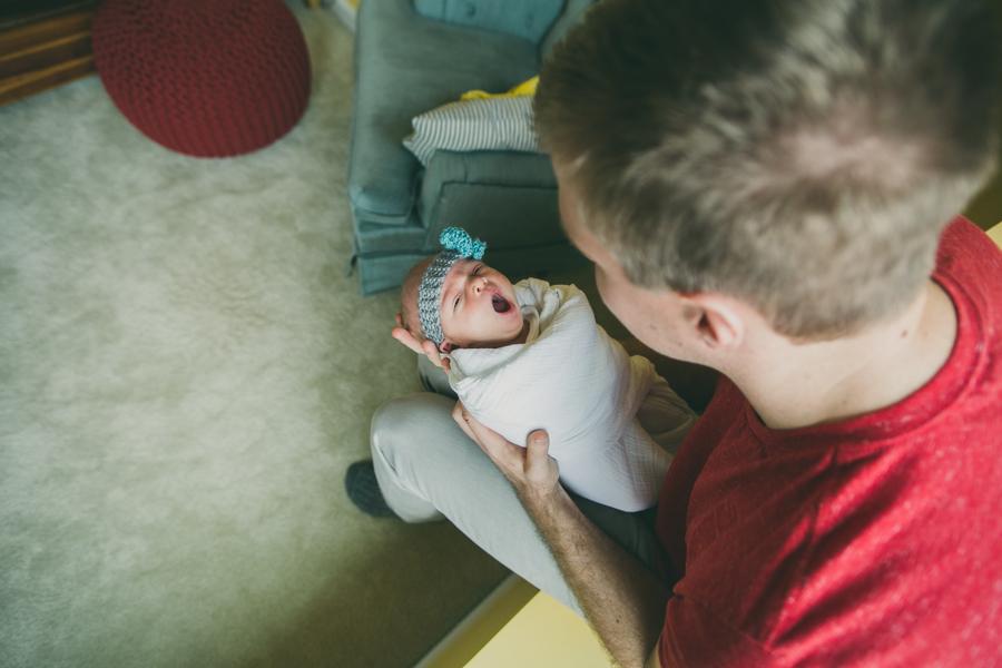 Lifestyle Newborn Session :: The Arrow House