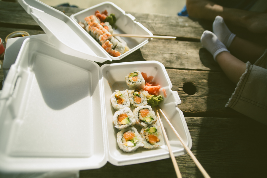 sushi in the park! :: The Arrow House