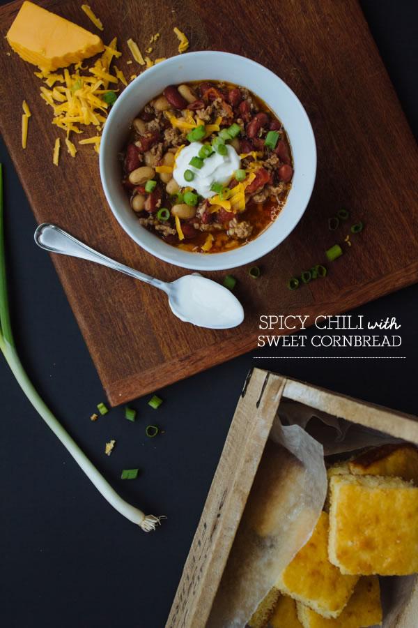 Spicy Chili + Sweet Cornbread :: The Arrow House