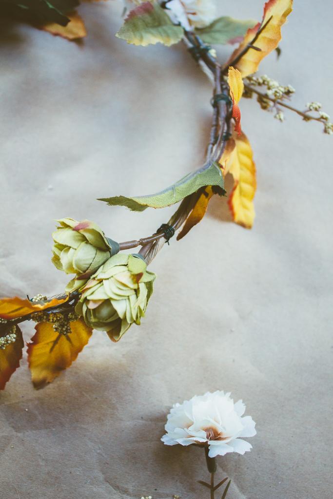 DIY :: Autumn Floral Crown by The Arrow House