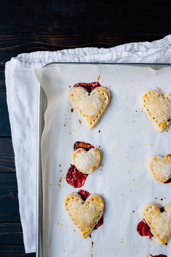 Nutella + Raspberry Mini Heart Pies