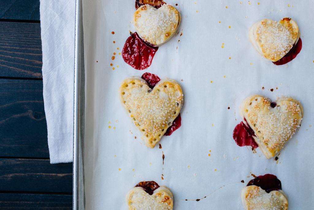 Nutella + Raspberry Pie Hearts