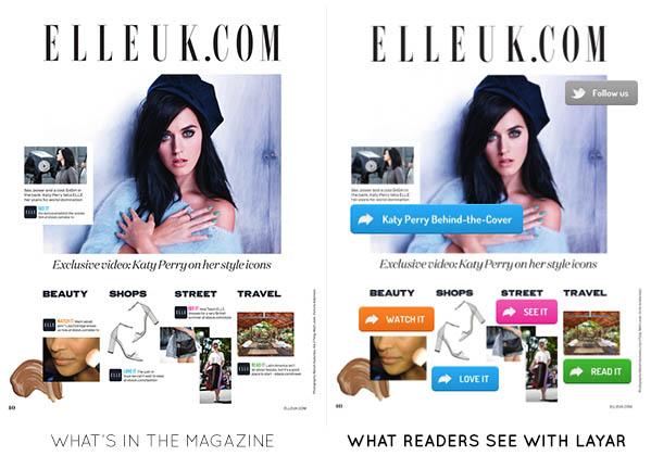 Elle UK  adds Layar