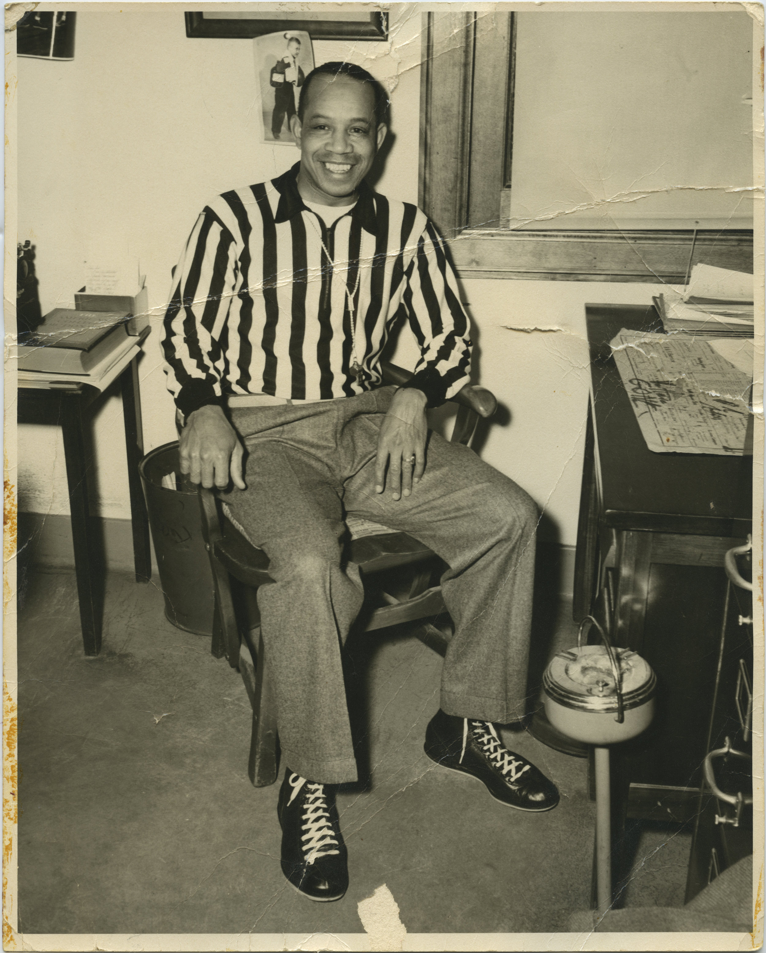 Jimmy Lee early in his officiating career. Photo from Lee Family Collection, courtesy of Frank M. White