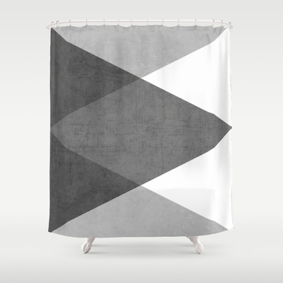 Black and White Triangles by Her Art
