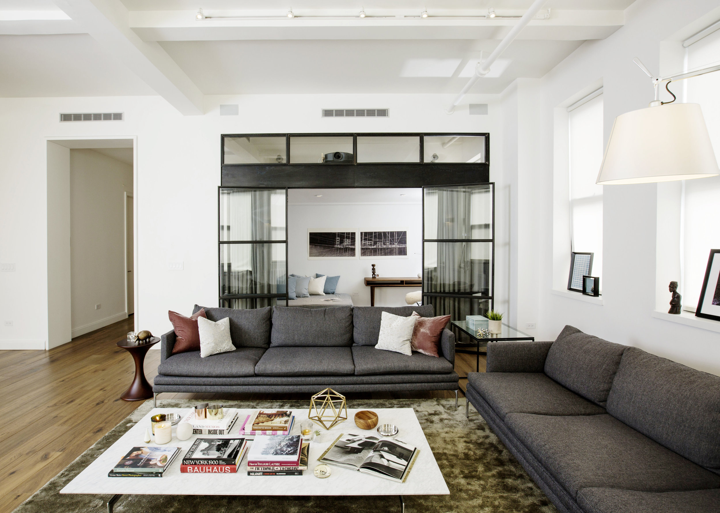 Family Room with Study beyond