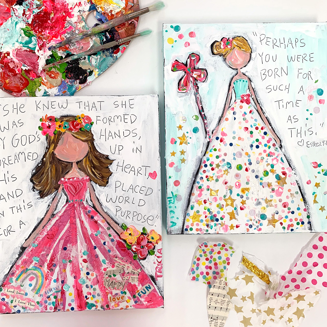 Tricia Robinson Art Paint Happy Colorful Girls Ecourse