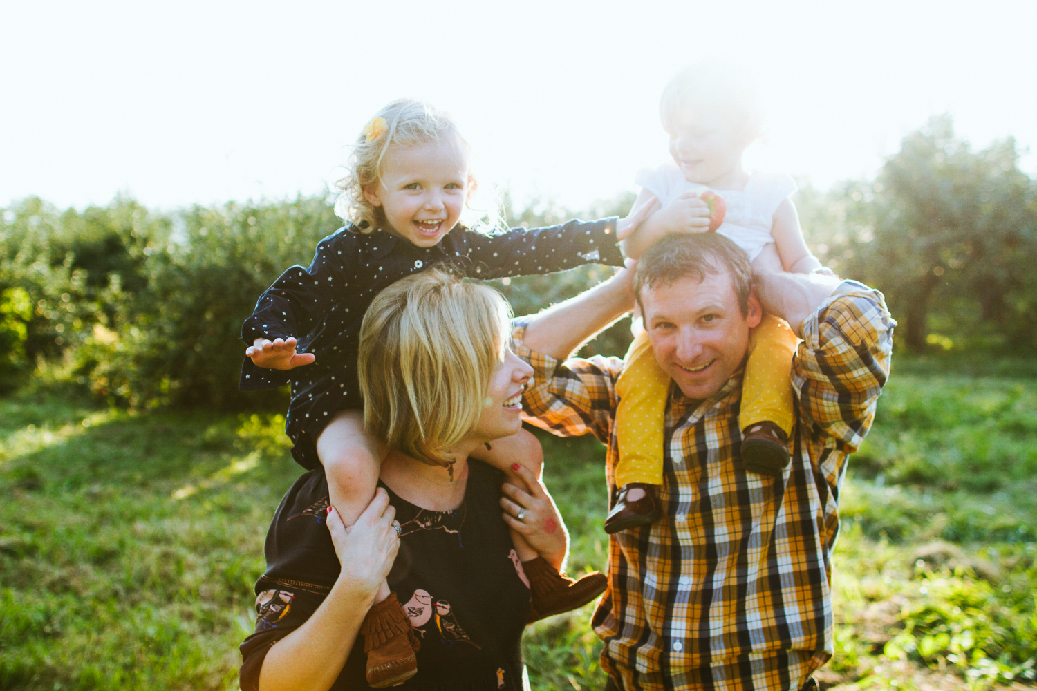 Minneapolis Family Photographer in an Apple Orchard