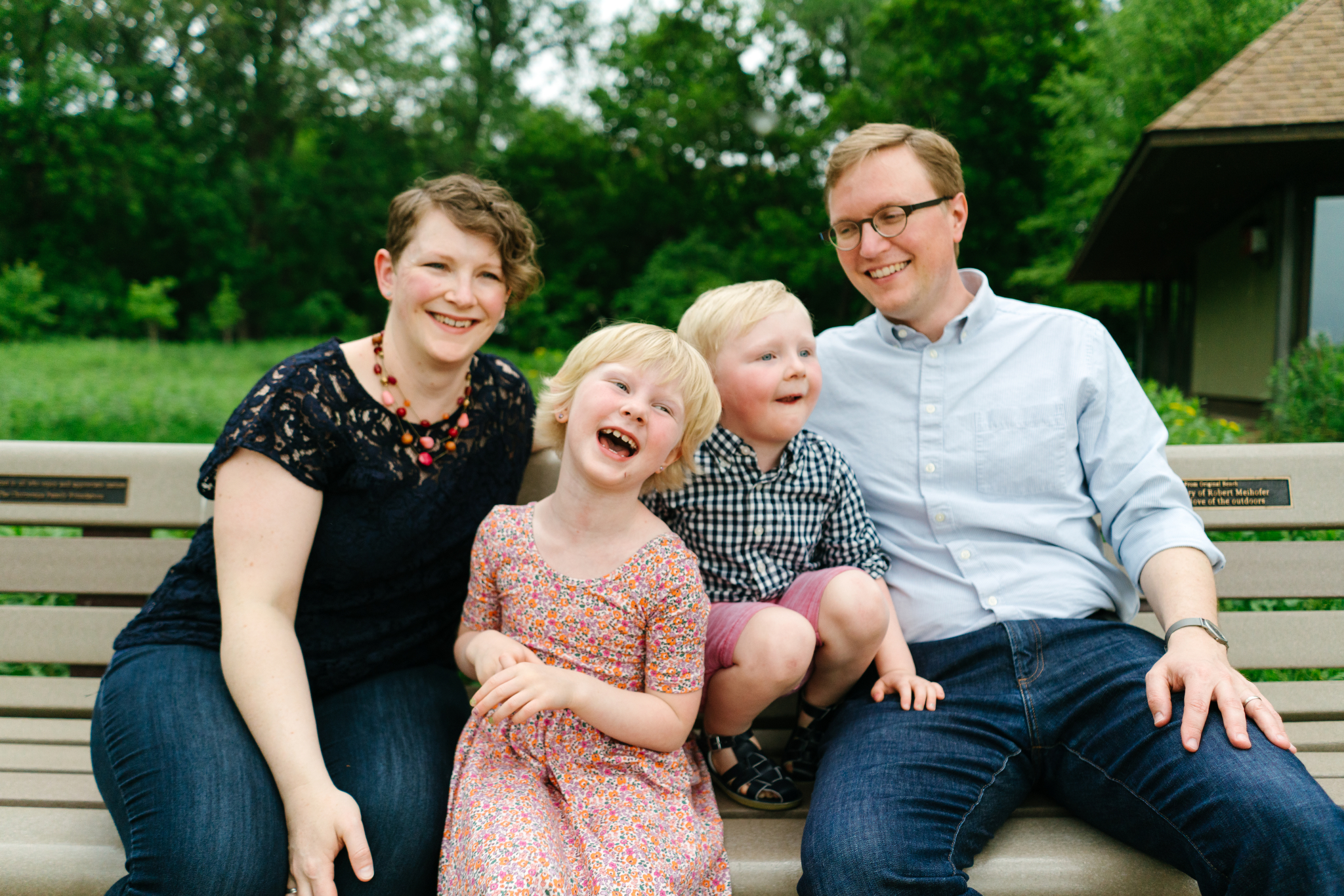 Family Portrait Session at Wood Lake Nature Center in Richfield, Minnesota