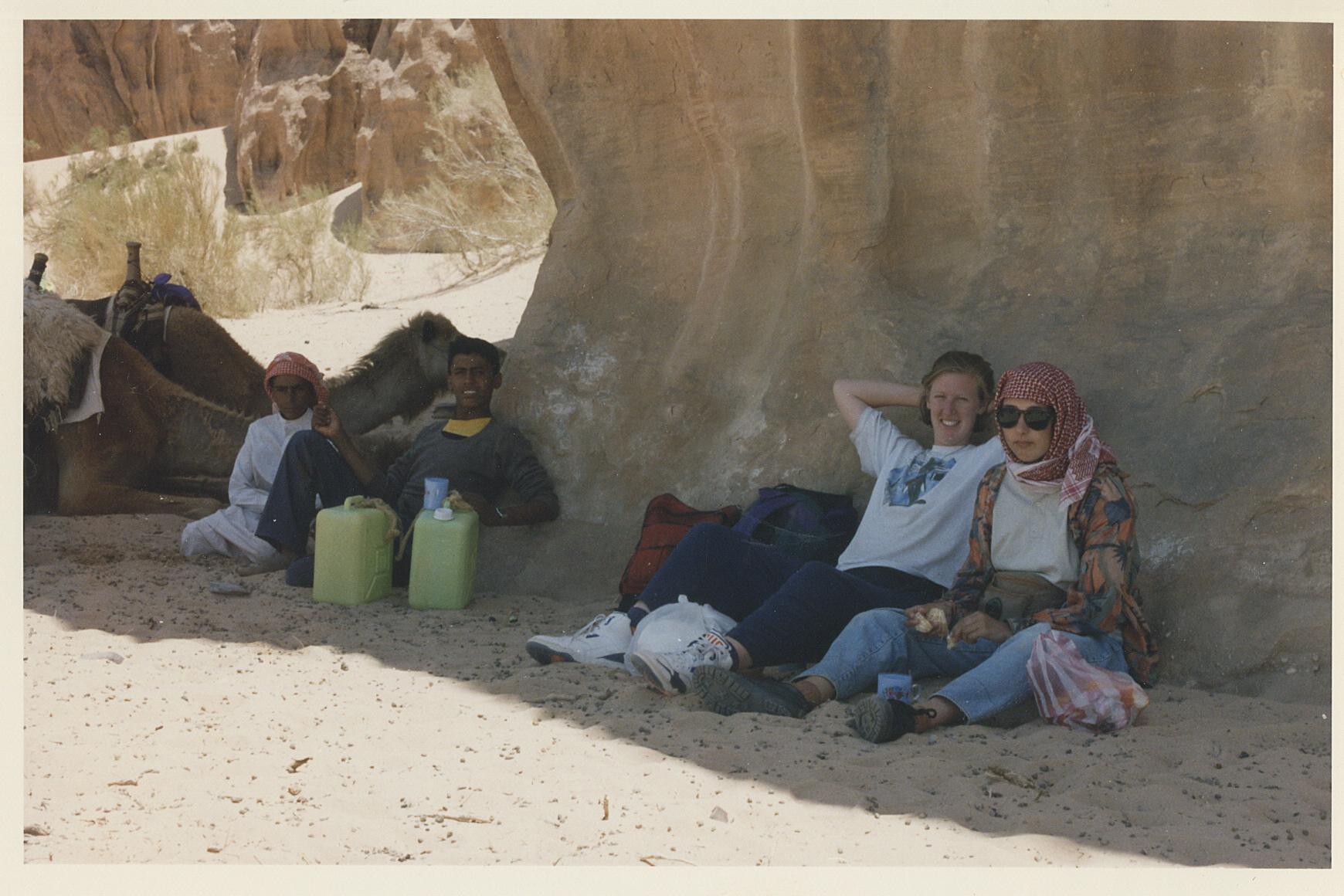Melissa in the desert.