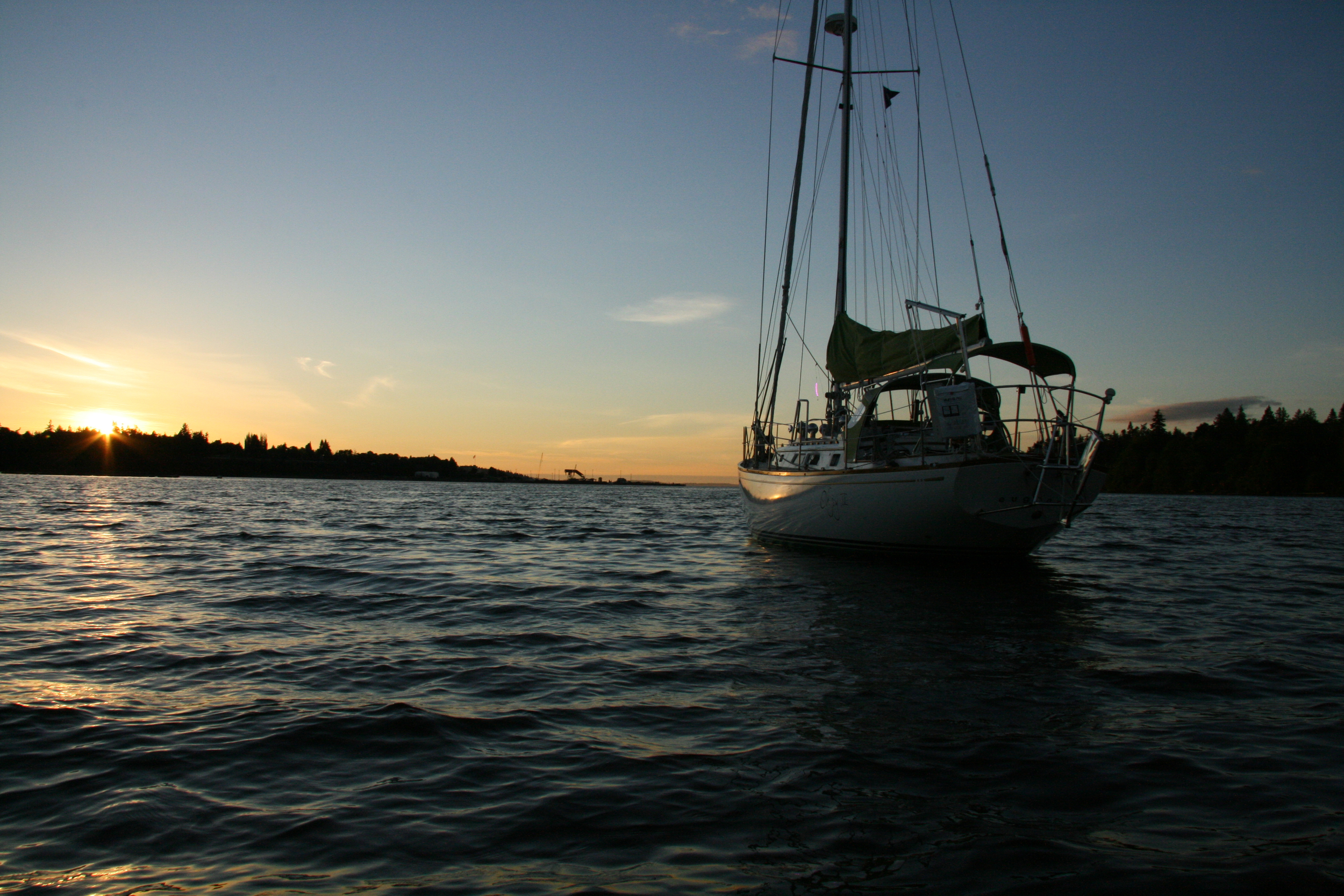 sunset at anchor