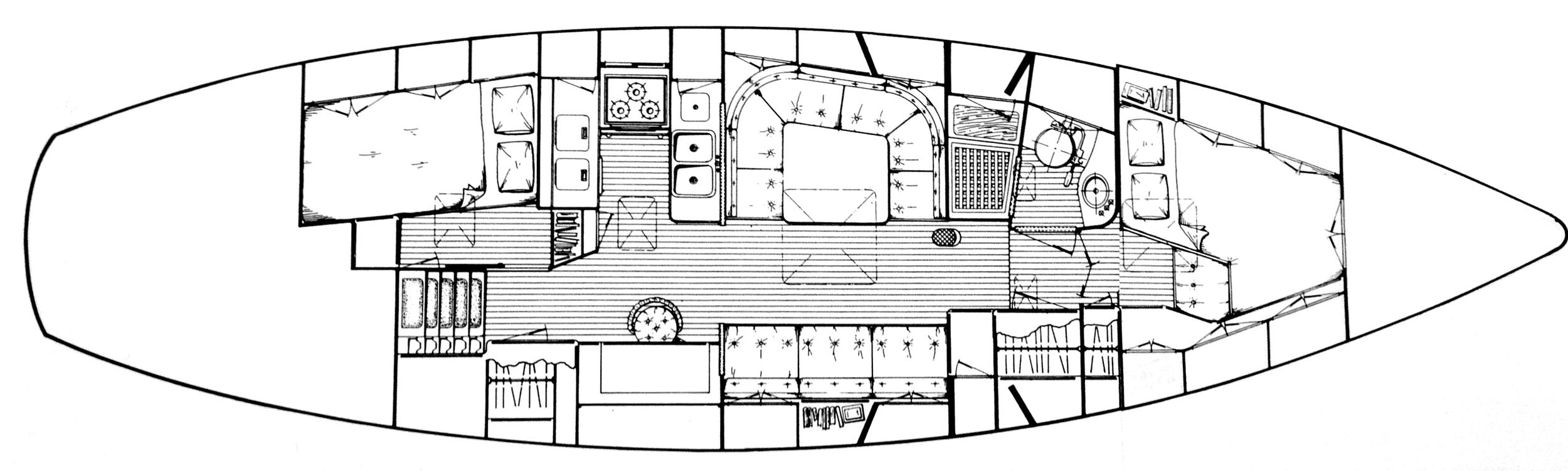 Oh Joy II's interior configuration.