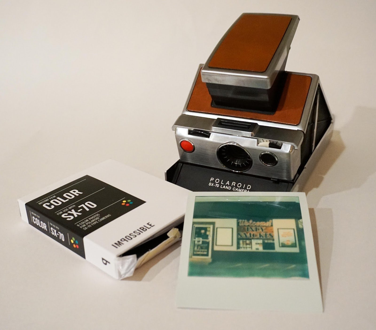 Polaroid sx70's design was revolutionary as it could fold flat and slip right into a pocket.