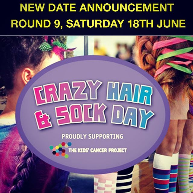 Crazy Hair & Sock Day Round 9, 18th June 2016. It's time to get a little crazy!!!