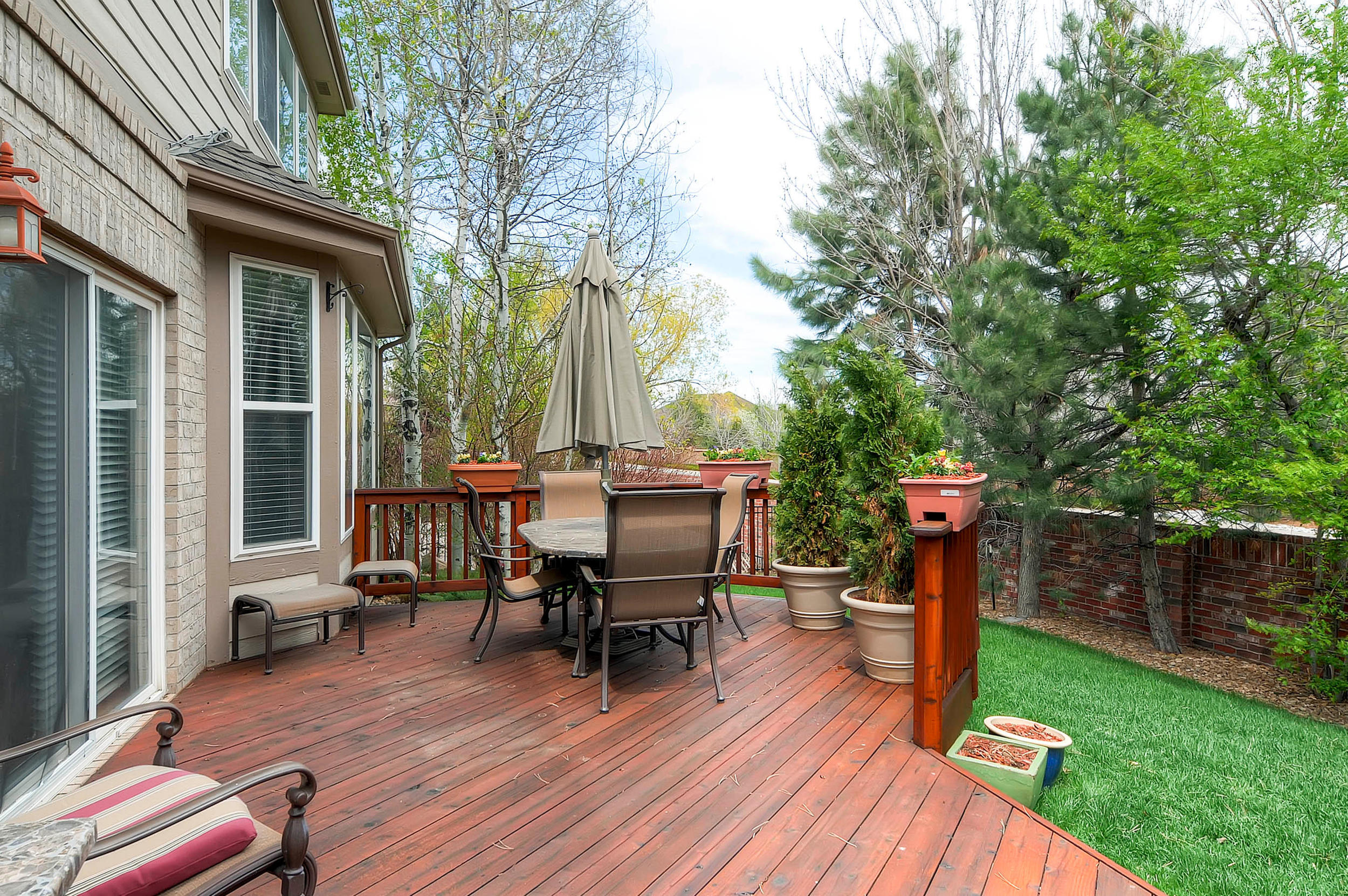 11739 East Powers Avenue- Relax on the spacious deck in the backyard.