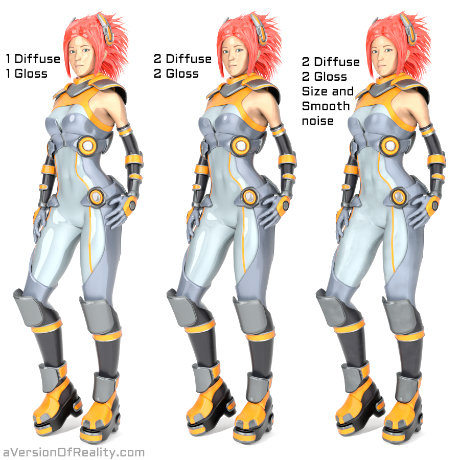 The noise breaks up the banding effect caused by multiple toon shaders, and removes the precise, harsh edges of shadows while still maintaining a toon style.