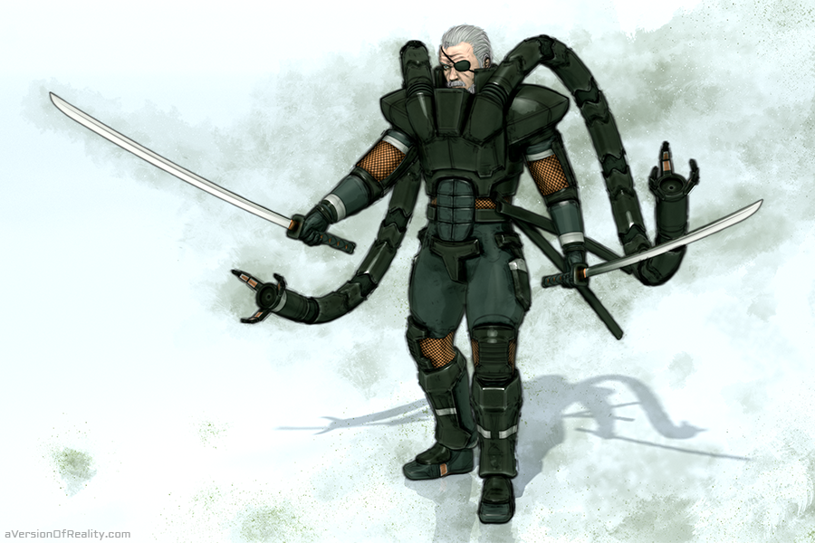 Solidus Snake from Metal Gear Solid 2. Click  here  for article.