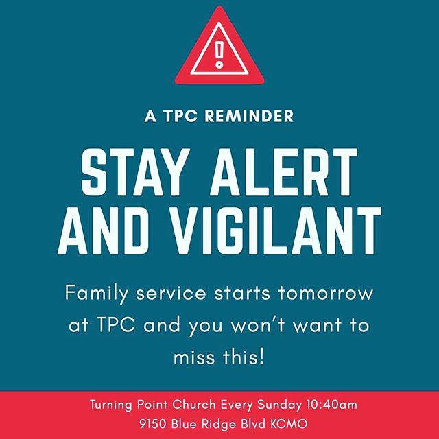 ‼️🚨Get ready TPC🚨‼️ It's family service time and we can't wait to worship together!