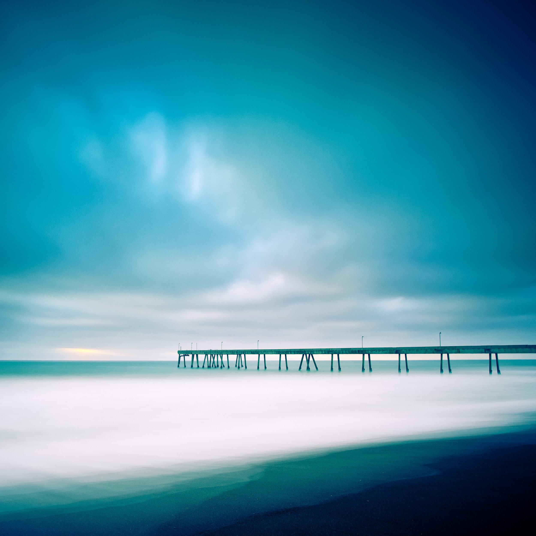 Pacifica pier hidden sunset clouds