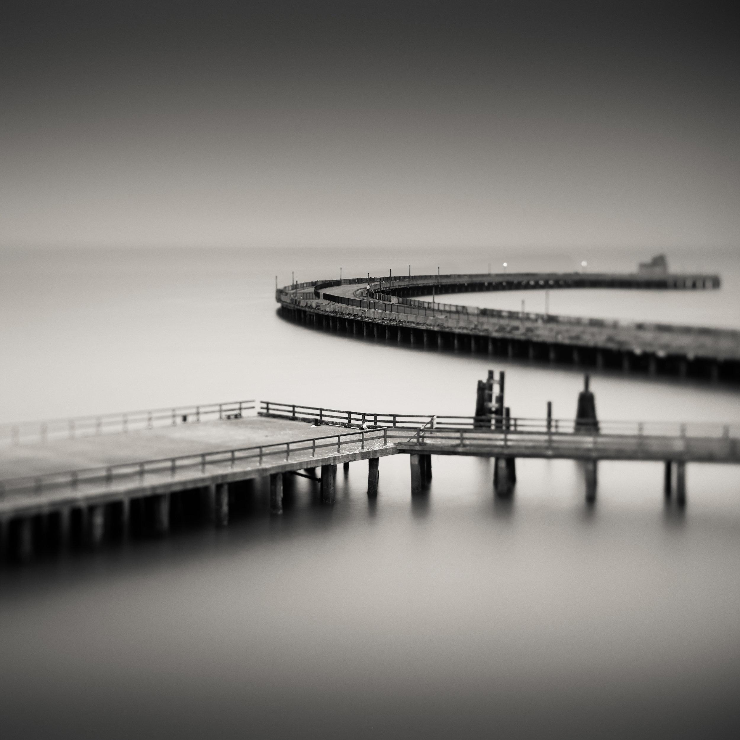 San Francisco black white fort mason aquatic park pier marina cloudy memory