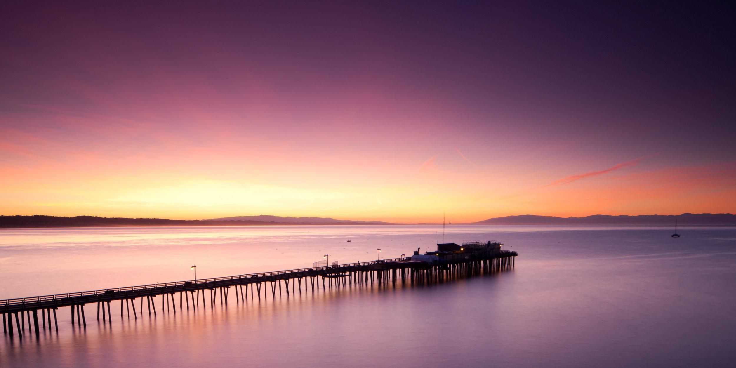 Capitola pier sunrise monterey pastel dawn