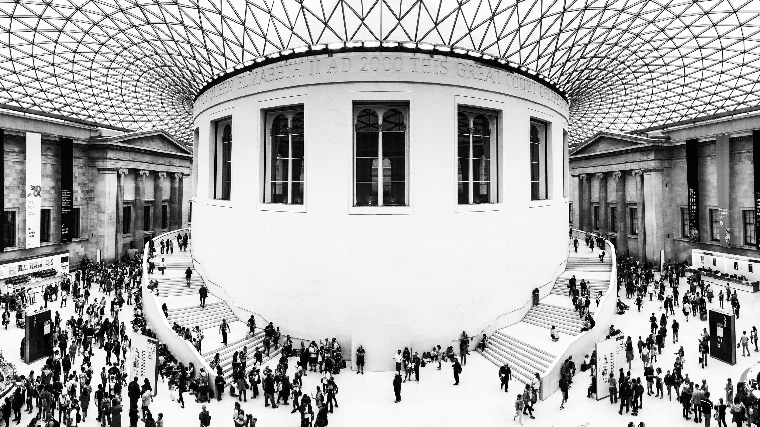 London British museum black white atrium ants